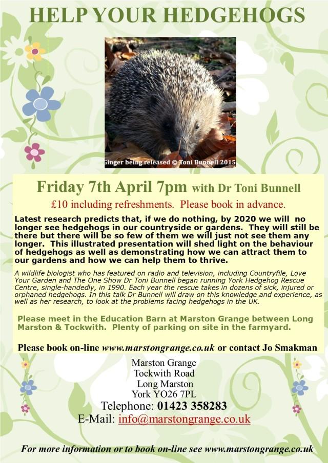 Hedgehogs Spring 2017